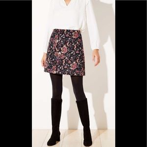 Ann Taylor floral jacquard shift skirt (similar!)
